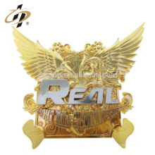 Best selling cheap customized made custom gold wing activities souvenirs charger plate
