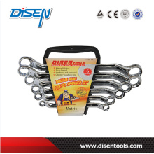 6PC Double Ring Chrome Plated Offset Wrench Set