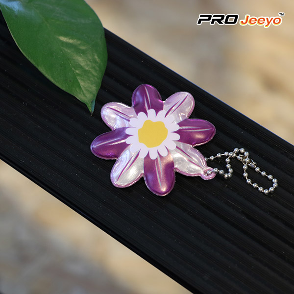 Purple Flower PVC Pendant
