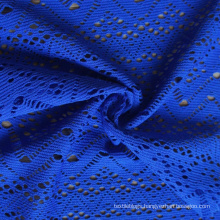 new design polyester lycra breathable knit hollow jacquard fabric for dress