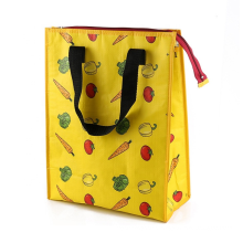 Customized Pattern Lunch Bag Cooler Bag Insulated Keep Food Fish Shopping Bag