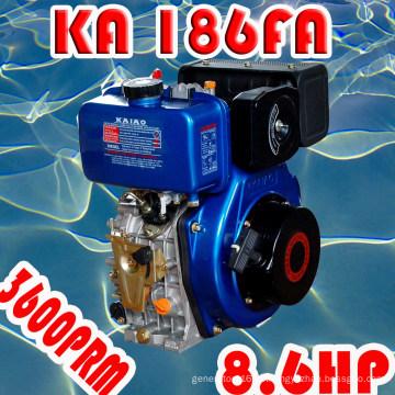Motor diésel de 8 CV, cilindro único refrigerado por aire KA186F