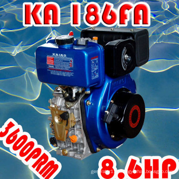 8HP Diesel Engine, 186fa Single Cylinder Air-Cooled