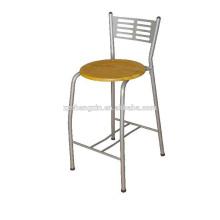 Steel Pipe Bar Chair, Metal Backrest Bar Chair Placa de madeira para venda