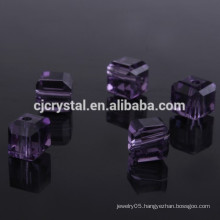 imitation crystal beads,cube glass beads