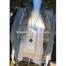 Damen Kaschmir-Schal mit Fuchspelzbesatz