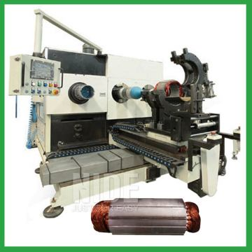 Automatic stator coil inserting and coil expanding machine