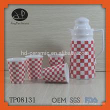 Белый керамический чайный горшок и чайник, бутылка с водой, набор для чая, керамический материал и водные горшки и чайник Чайная посуда Тип Чайник