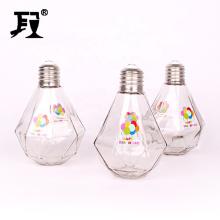 Custom logo 700ml unique shaped bulb light glass bottle for beverage juice