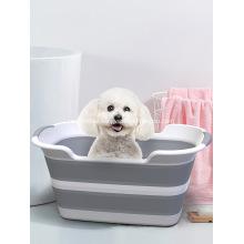 Multifunctional pet folding bathtub pet bathtub