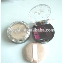 emballage de cas poudre compacte poudre compacte ronde
