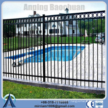 Powder coating wrought iron ornamental fence