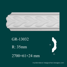 home interior decorator fireproof PU architectural molding with high density