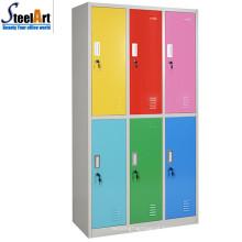 A escola da estrutura de KD usou seis projetos do wardrobe do metal da porta