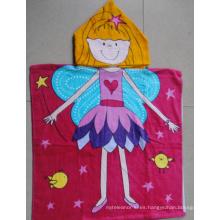 (BC-PB1011) Poncho de playa para niños con estampado de algodón 100% de gran venta