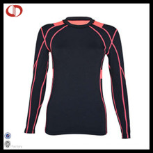 Custom mulheres Sportswear compressão camisa