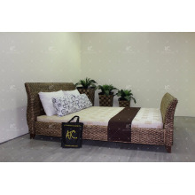 Newest Design water hyacinth Bedroom Double size for Indoor Furniture