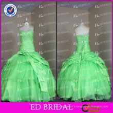 Real Picture Ball Gown Sweetheart Lace Appliqued Floor Length Quinceanera Dresses