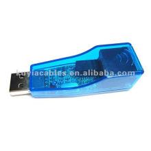 Conversor USB para LAN Ethernet 10/100 Adaptador de rede para PC portátil