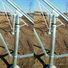 Ancre à vis de terre au sol pour clôture du système solaire