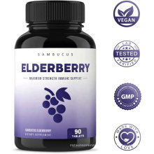 Private Label Supplement Natural Fruit Extract Elderberry Chewable Capsules Tablets