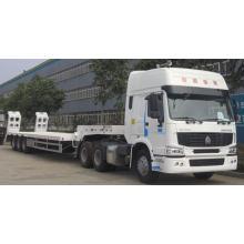 60tons 3-осный низкорамный грузовик с прицепом