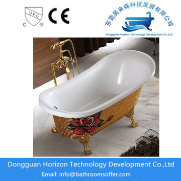 Goodwin Acrylic Clawfoot Tub in White