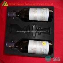 Black flocked ps blister tray pack for bottles