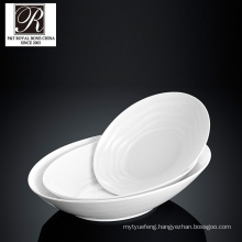 hotel ocean line fashion elegance white porcelain oval soup bowl PT-T0592