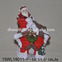 2016 крытый рождественский дом керамическая фигурка Санта-Клауса