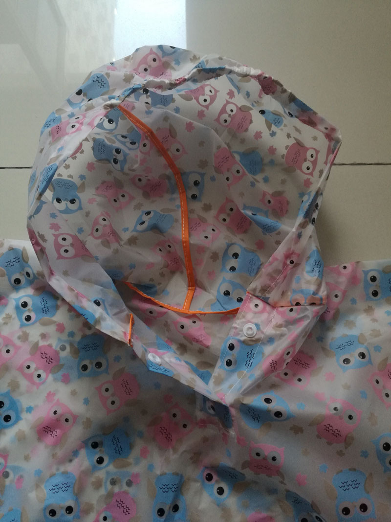 peva kids raincoat with pattern
