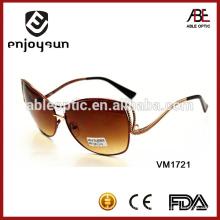 Коричневые цветные металлические солнцезащитные очки оптом Alibaba