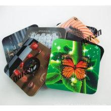Alfombra impresa lenticular promocional de la taza del efecto 3D del regalo