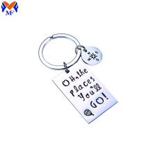 Metal Custom Logo Stainless Steel Keychains