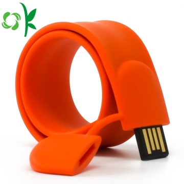 Mode Silicone USB Flash Drive Slap Bracelet / Wristband