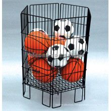 Free Design Freestanding Metal Supermarket Sports Items Basketball And Football Display Rack