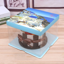 transparent window clear cake box