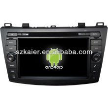 Система андроида автомобиля DVD-плеер для Mazda3 с GPS,Блютуз,3G и iPod,игры,двойной зоны,управления рулевого колеса