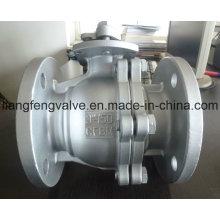 Válvula de bola de extremo de brida con acero inoxidable