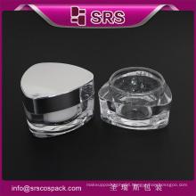 SRS free sample empty 15ml 30ml 50ml acrylic cosmetic jar white