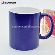 porcelain blank color change mug for sublimation printing with high quality