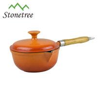 Enamel coating milk warmer non stick sauce pot