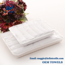 Best selling 100% cotton 21s airline disposable hand towels in tray Best selling 100% cotton 21s airline disposable hand towels in tray