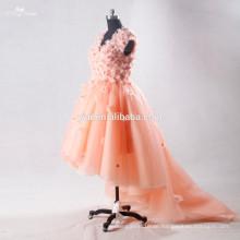 RSE706 Kinder Kleid Dekoration Blumen Kurz Vorderseite Lange Rückseite Letzte formale Kleid Muster