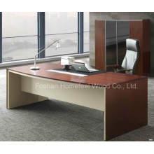 Mobília de mesa executiva de escritório de folheado de madeira de alta qualidade (HF-SI003)