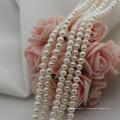 Petite taille 3mm Natural off Perles de perles d'eau douce à forme ronde