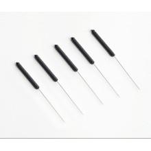 Agulhas de acupuntura esterilizadas com alças de plástico condutor