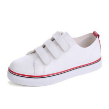 Hot Sales PU Upper Girl′s Shoes with Magic Tape (NF-4)