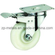 3 Zoll Weiß PP Caster Wheel mit Bremse