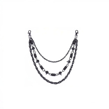 Fashion gunmetal metal handbag hardware bag chains jewelry